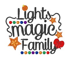 Christmas Tree Lights Magic Family embroidery design