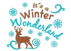 Reindeer It s A Winter Wonderland embroidery design