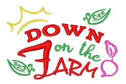 Down On The Farm embroidery design