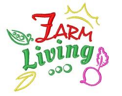 Farm Living embroidery design