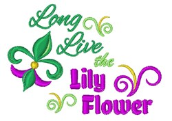 The Lily Flower embroidery design