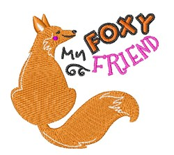 My Foxy Friend embroidery design