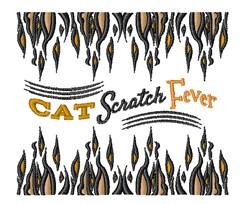 Cat Scratch Fever embroidery design