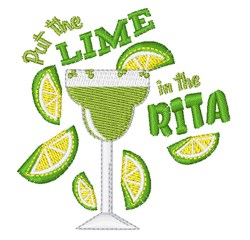 Lime In The Rita embroidery design
