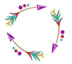 Arrows embroidery design