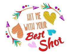 Your Best Shot embroidery design