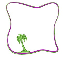 Palm Border v embroidery design