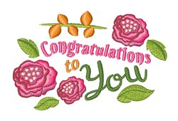 Congratulations To You embroidery design