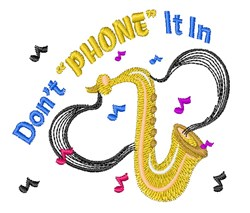Phone It In embroidery design