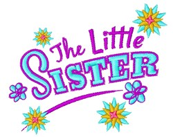The Little Sister embroidery design