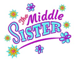 The Middle Sister embroidery design