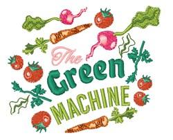 Green Machine embroidery design