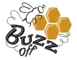Buzz Off embroidery design