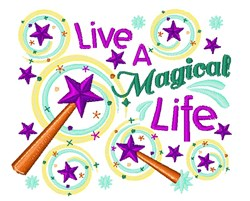 Magical Life embroidery design