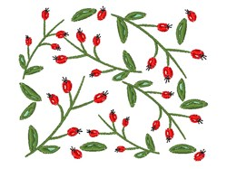 Berry Branches embroidery design