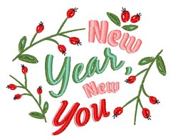 New Year New You embroidery design