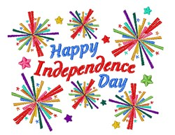Happy Independance Day embroidery design
