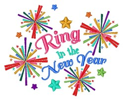 The New Year embroidery design