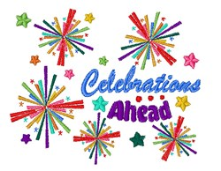 Celebrations Ahead embroidery design