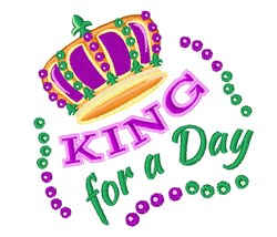 King For A Day embroidery design