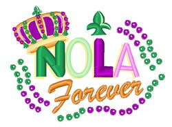NOLA Forever embroidery design