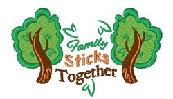 Family Sticks Together embroidery design