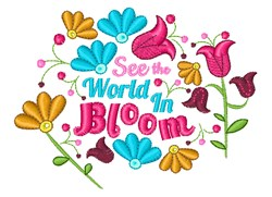 World In Bloom embroidery design