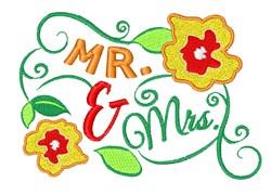 Mr & Mrs embroidery design