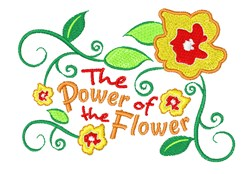 Power Of  Flower embroidery design