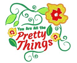 Pretty Things embroidery design