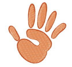 Hand Print embroidery design