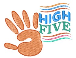 High Five embroidery design