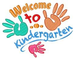 Welcome To Kindergarten embroidery design