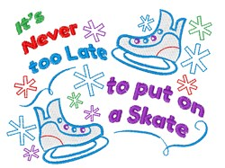 Put On A Skate embroidery design