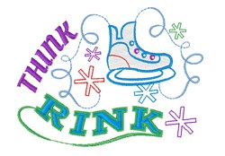 Think Rink embroidery design