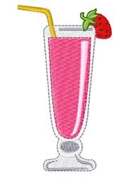 Milkshake embroidery design