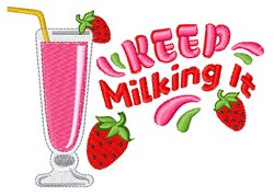 Keep Milking It embroidery design