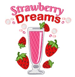 Strawberry Dreams embroidery design