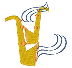 Saxophone Musician embroidery design