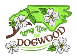 The Dogwood embroidery design