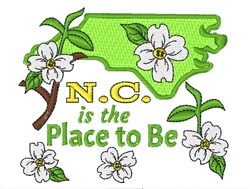 The Place To Be embroidery design