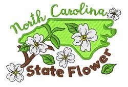 North Carolina Flower embroidery design