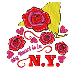 Heart In NY embroidery design