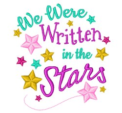 Written In The Stars embroidery design