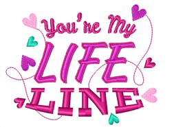 My Life Line embroidery design