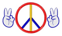 Peace Hands embroidery design