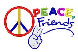 Peace Friends embroidery design