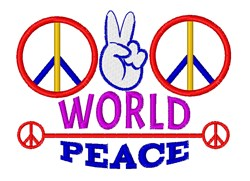 World Peace embroidery design