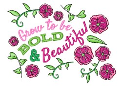 Bold & Beautiful embroidery design