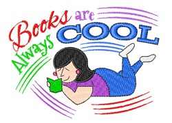 Books Are Cool embroidery design